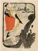 Vintage Jane Avril Jardin de Paris French Advertising Poster.